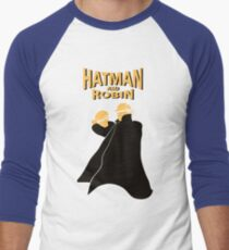 Hatman and Robin Men's Baseball ¾ T-Shirt