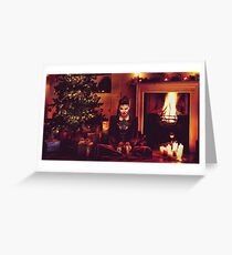 Christmas - The Queen by the Fire Greeting Card