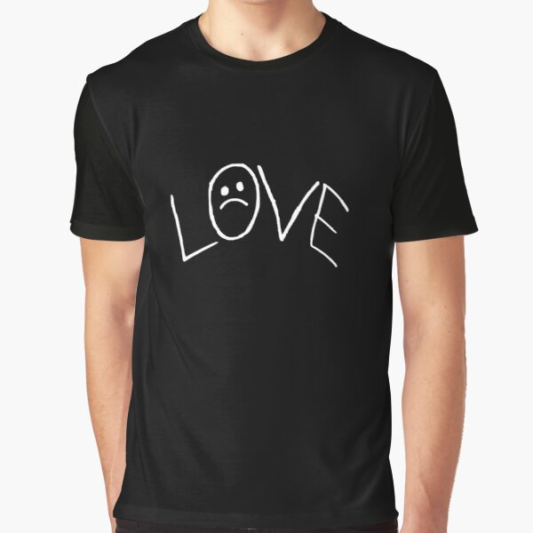 Lil Peep Love Tattoo Official Design White Text Graphic T-Shirt