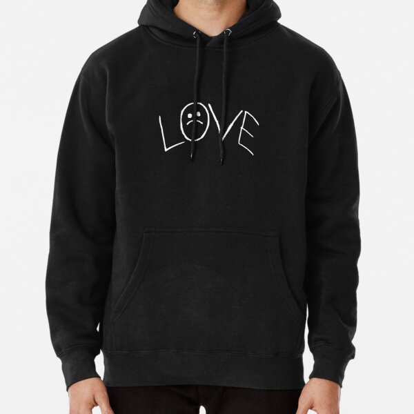 Lil Peep Love Tattoo Official Design White Text Pullover Hoodie
