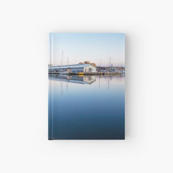 Early Morning at Hobart Wharves, Tasmania Hardcover Journal