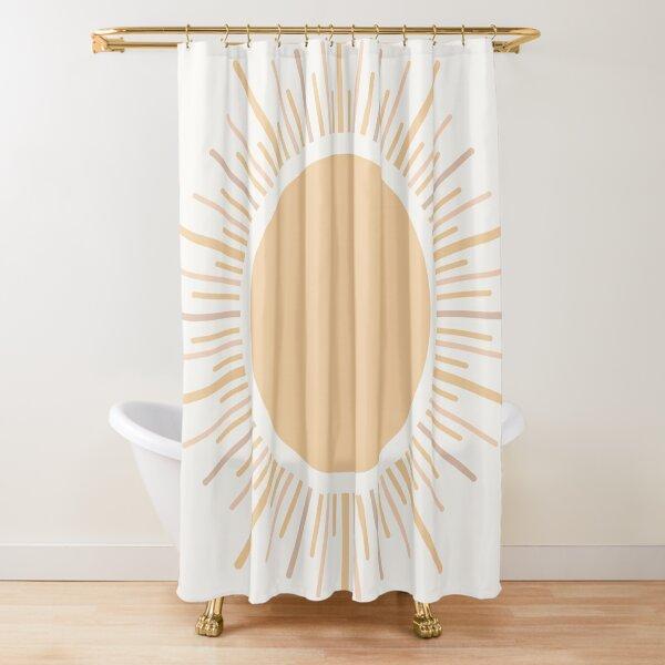 Sun Boho Art Shower Curtain