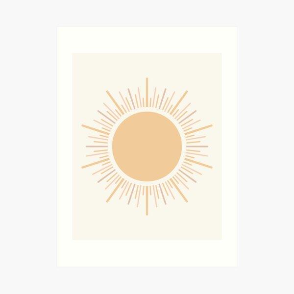 Sun Boho Art Art Print