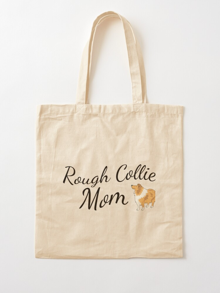 Alternate view of Rough Collie Mom Tote Bag