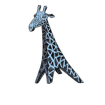 Blue Giraffe by delosangeles