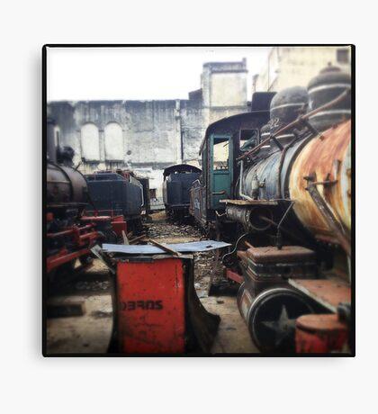 Train Gravyard in Havana Canvas Print