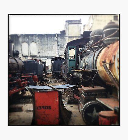 Train Gravyard in Havana Photographic Print