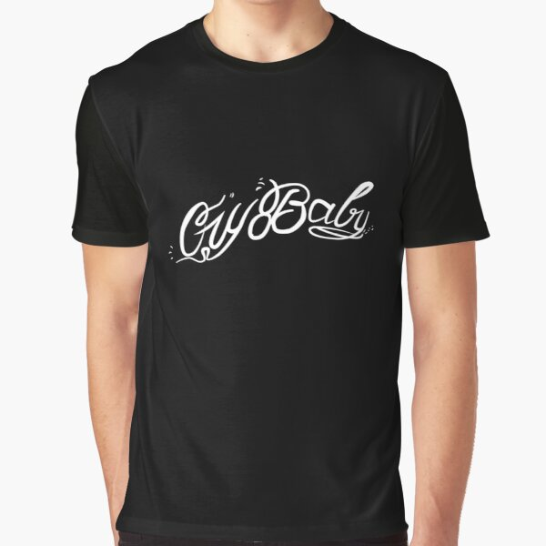 Lil Peep Cry Baby Tattoo Original Design White Text Graphic T-Shirt