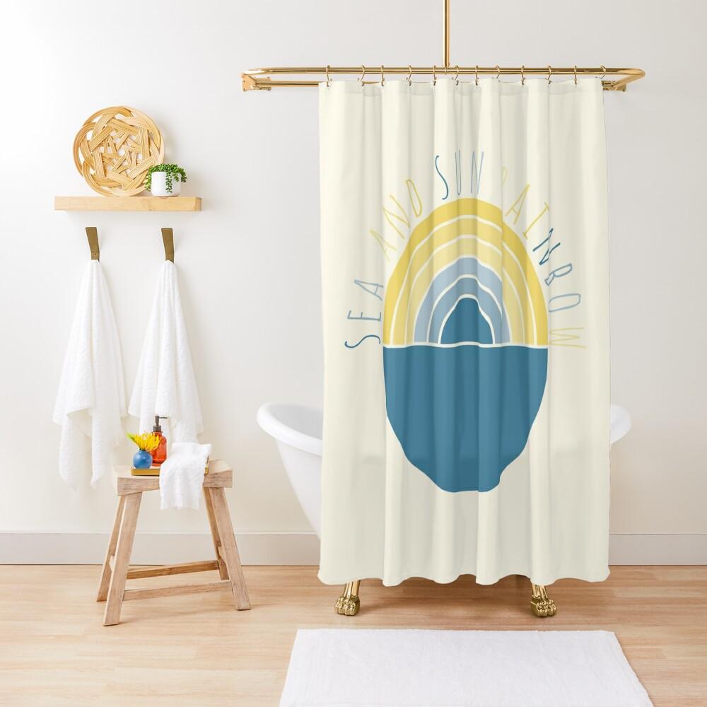 Sea and Sun Rainbow Shower Curtain