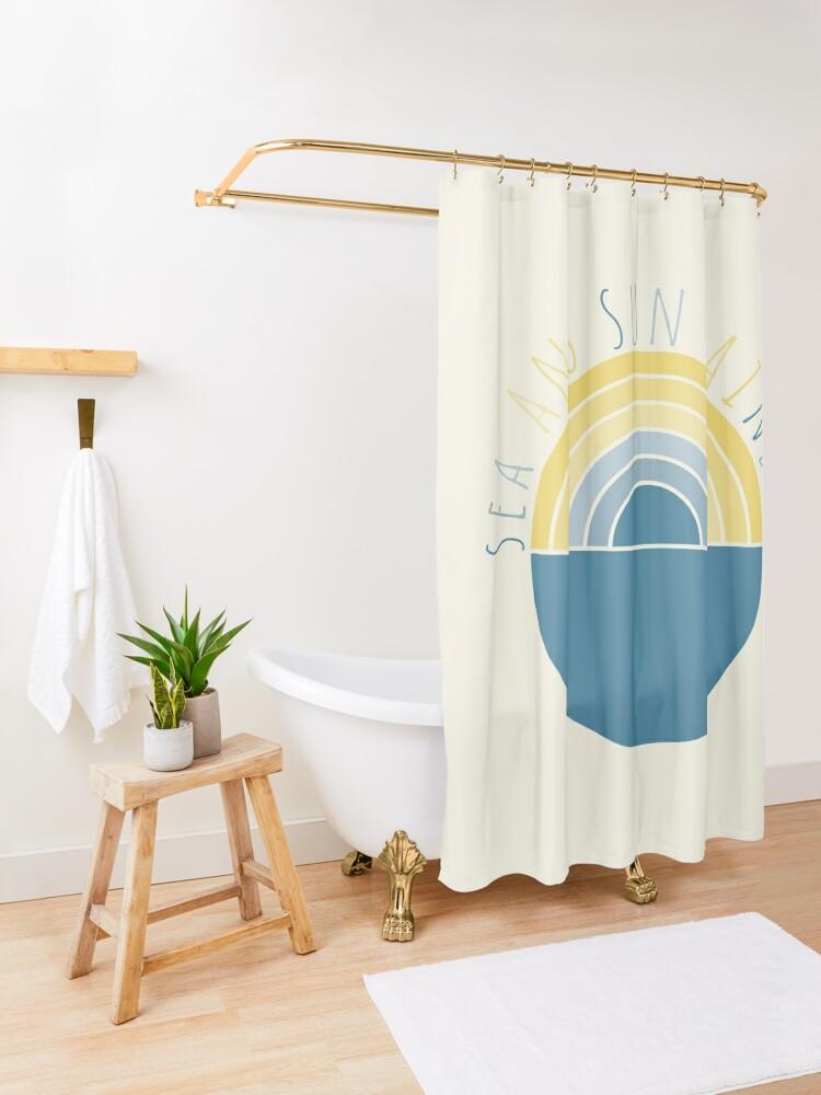 Alternate view of Sea and Sun Rainbow Shower Curtain