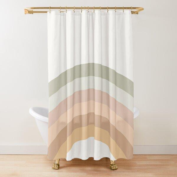Rainbow neutral colors art Shower Curtain