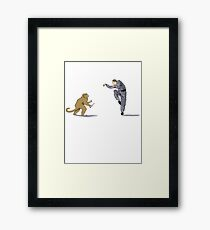 Monkey Fu with Knife (detail) Framed Print