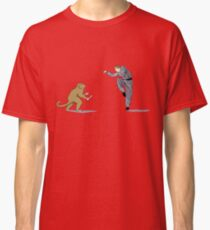 Monkey Fu with Knife (detail) Classic T-Shirt