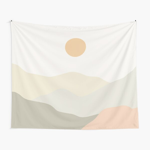 Minimalist Landscape Mountains Tapestry