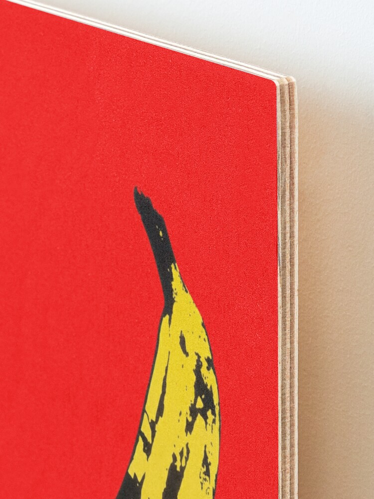 Alternate view of Big Yellow Banana - Red Mounted Print