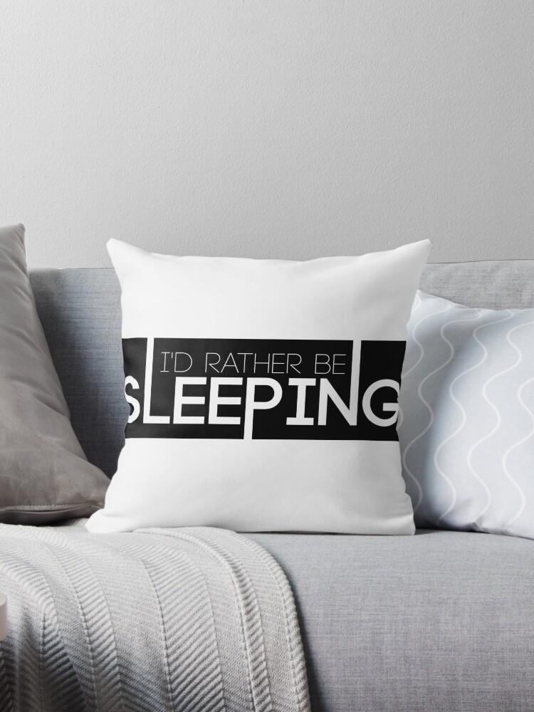 'BTS/Bangtan Sonyeondan - I'd Rather Be Sleeping' Throw Pillow by  skiesofaurora