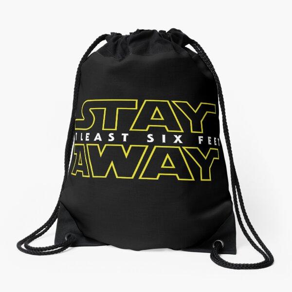 Stay Away Drawstring Bag
