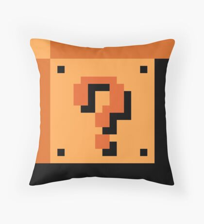 The Question Block? Throw Pillow