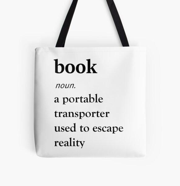Buchdefinition Allover-Print Tote Bag