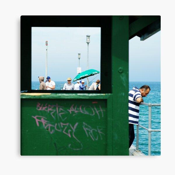 L'étranger sur la jettée Canvas Print
