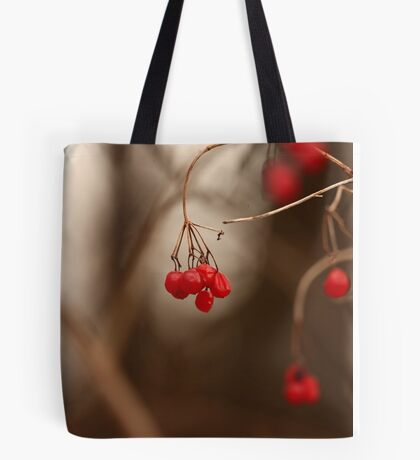 Abstract Red Berries Tote Bag