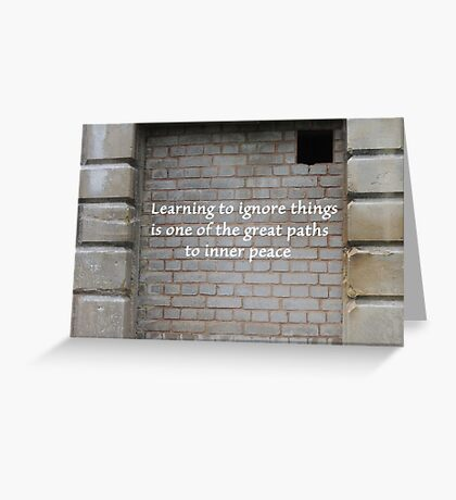 Path To Inner Peace Greeting Card