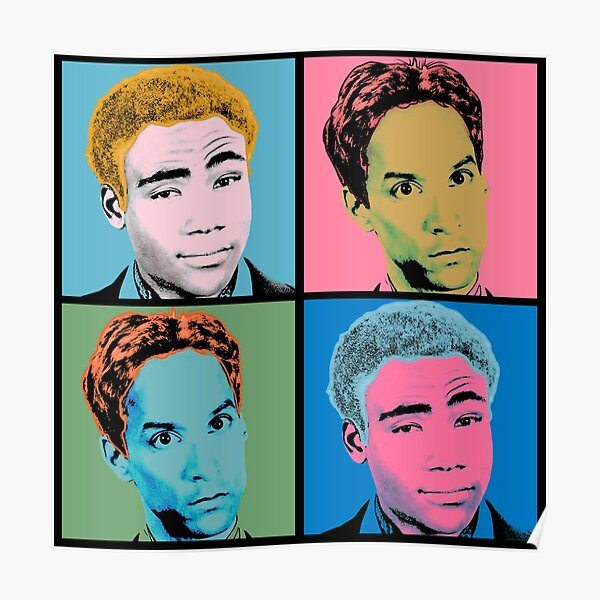 Troy and Abed Warhol Poster