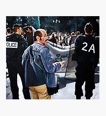 Protests in Paris Photographic Print
