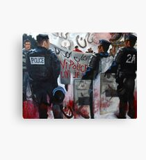 Protests in Paris Fragmented Canvas Print