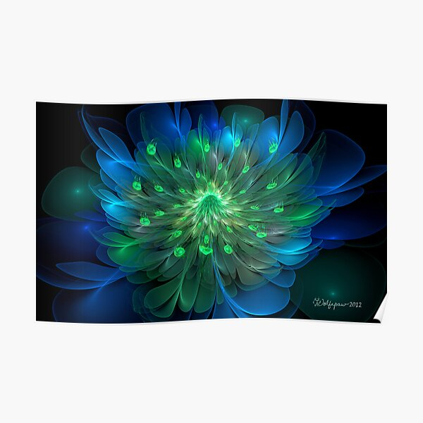 Peacock Bloom Poster