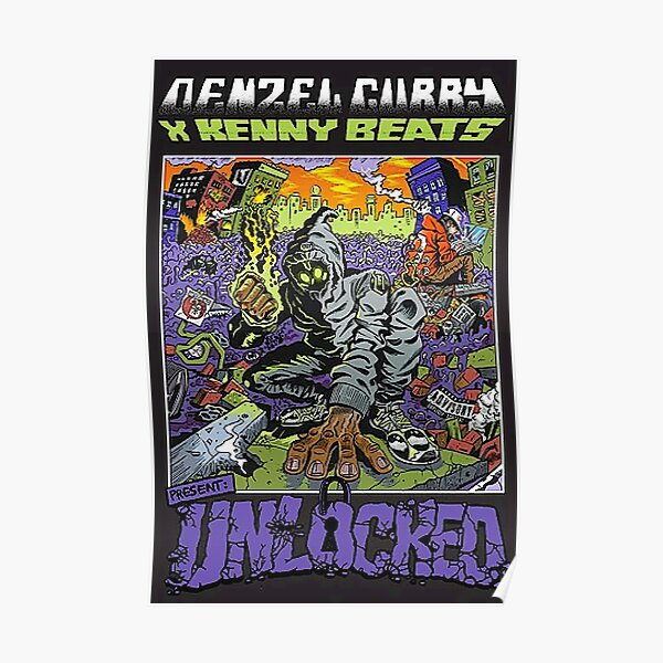 Denzel Curry unlocked limited edition Poster