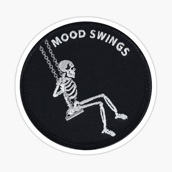 Mood Swings Skeleton Patch Sticker
