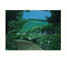 South Downs Way Art Print