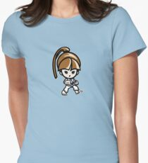 Martial Arts/Karate Girl - Front punch Womens Fitted T-Shirt
