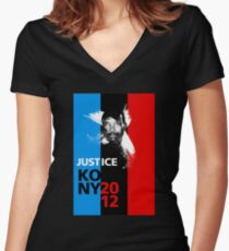 Justice KONY 2012 Women's Fitted V-Neck T-Shirt