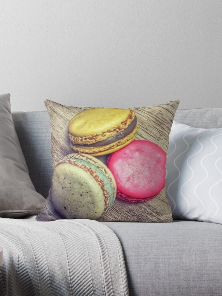 Macaron Throw Pillow By Dantiz Redbubble