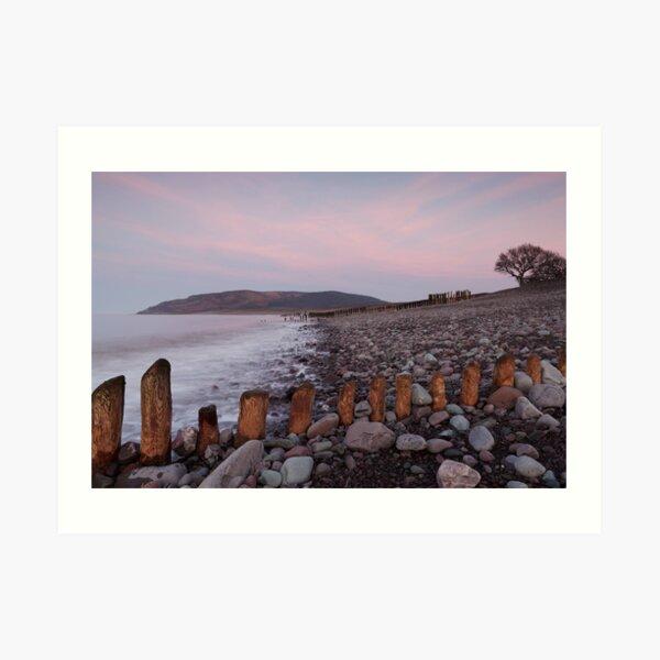 Dusk over Bossington Hill Art Print