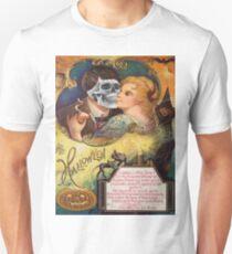 Embracing Death (Vintage Halloween Card) Unisex T-Shirt
