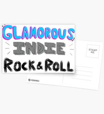 Glamorous Indie Rock & Roll Postcards