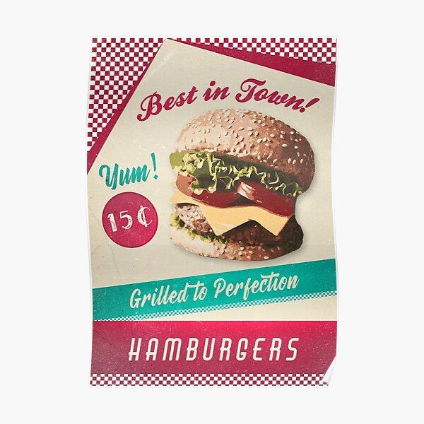 DINER MENUS CAFE FOOD BURGER VINTAGE EAT RETRO JUKE 50/'S MUSIC RESTAURANT ROCK