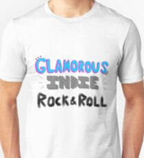 Glamorous Indie Rock & Roll Unisex T-Shirt