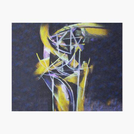 Strukturen in Gelb und Violett Galeriedruck