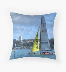 NZ 68 - NZ's America's Cup yacht.........! Throw Pillow