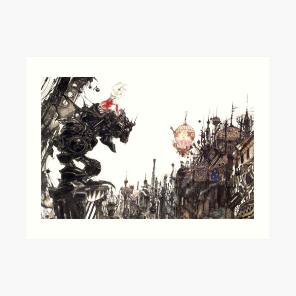 Yoshitaka Amano - Final Fantasy VI Artwork Art Print
