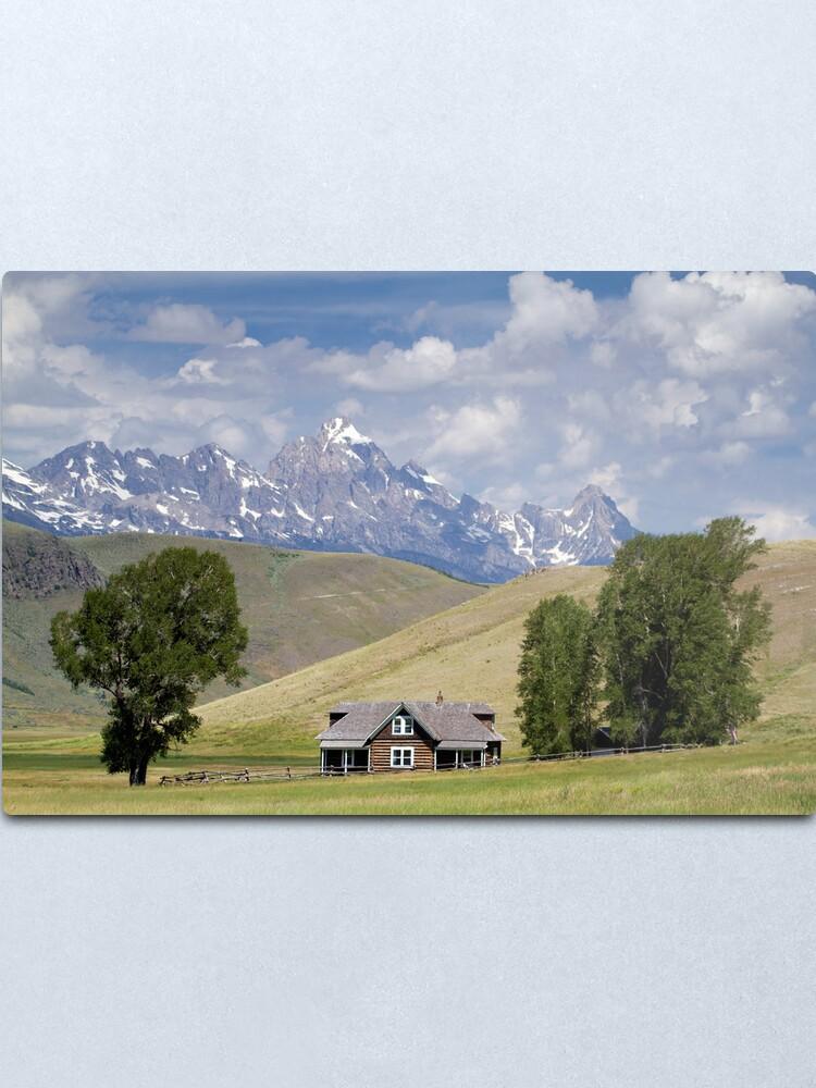 Alternate view of Miller Ranch House on the Elk Refuge, Jackson Hole Metal Print