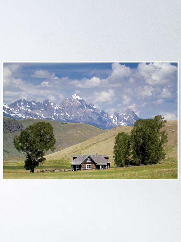 Alternate view of Miller Ranch House on the Elk Refuge, Jackson Hole Poster