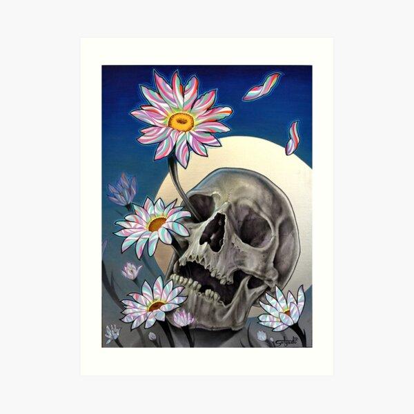 Rebirth (Skull and Flowers) Art Print
