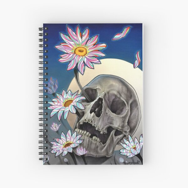 Rebirth (Skull and Flowers) Spiral Notebook