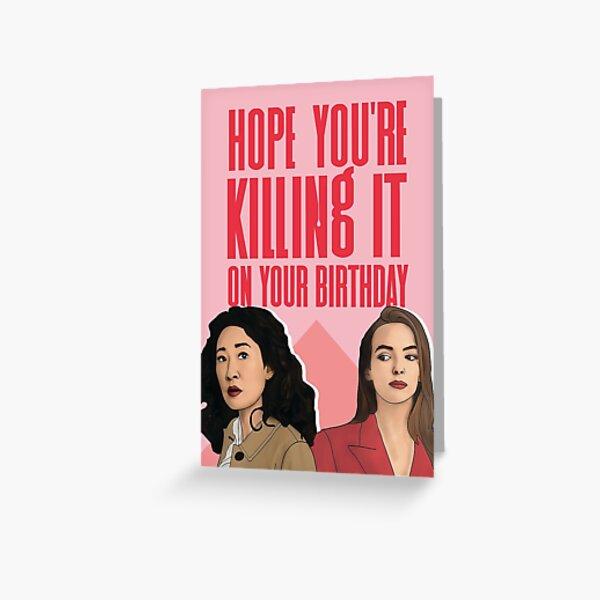 Killing Eve Birthday Card Greeting Card