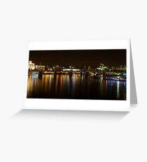 London skyline by night Greeting Card